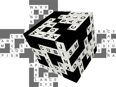 V-CUBE CROSSWORD CUBE 3x3 FLAT