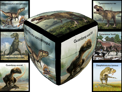 V-CUBE DINOSAURS 3x3 PILLOW