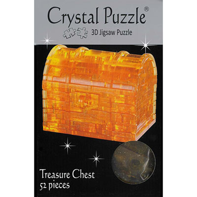 3D TREASURE CHEST CRYSTAL PUZZ
