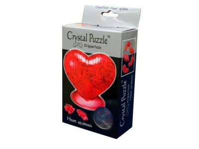 3D RED HEART CRYSTAL PUZZLE