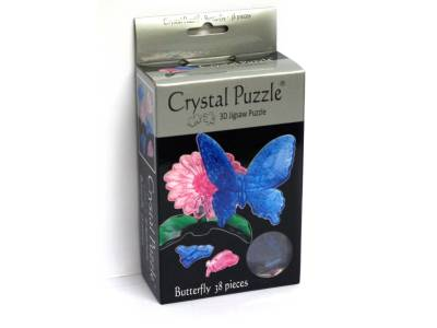3D BUTTERFLY CRYSTAL PUZZLE