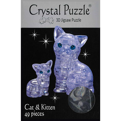 3D CAT & KITTEN CRYSTAL PUZZLE