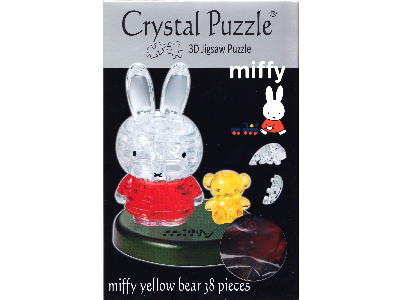 3D MIFFY W/BEAR CRYSTAL PUZZLE