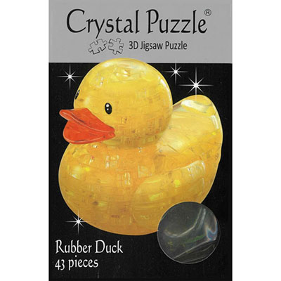 3D RUBBER DUCKIE CRYSTAL PUZZL