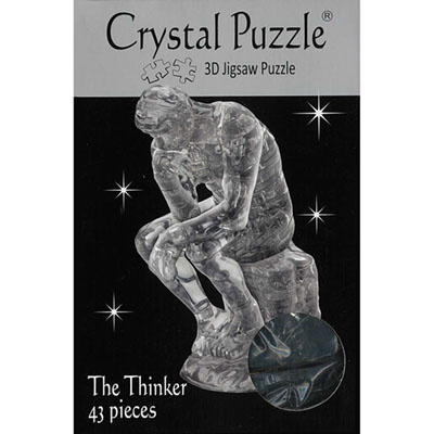 3D THE THINKER CRYSTAL PUZZLE