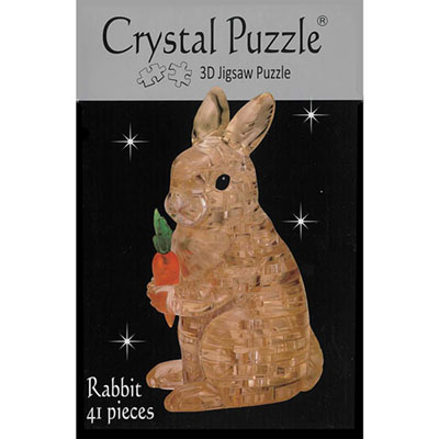 3D BROWN RABBIT CRYSTAL PUZZLE