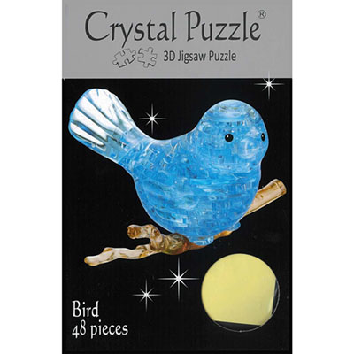 3D BLUEBIRD CRYSTAL PUZZLE