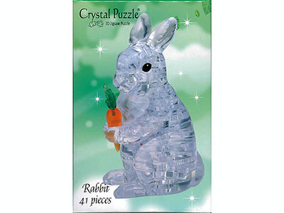 3D RABBIT CRYSTAL PUZZLE