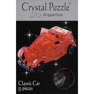3D RED CLASSIC CAR CRYSTAL PUZ