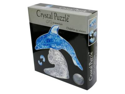 3D BLUE DOLPHIN CRYSTAL PUZZLE