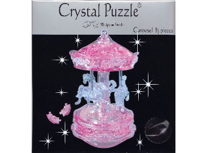 3D PINK CAROUSEL CRYSTAL PUZZL